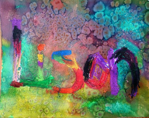 L 39 image du jour du c t de chez delph for Peinture pastel gras